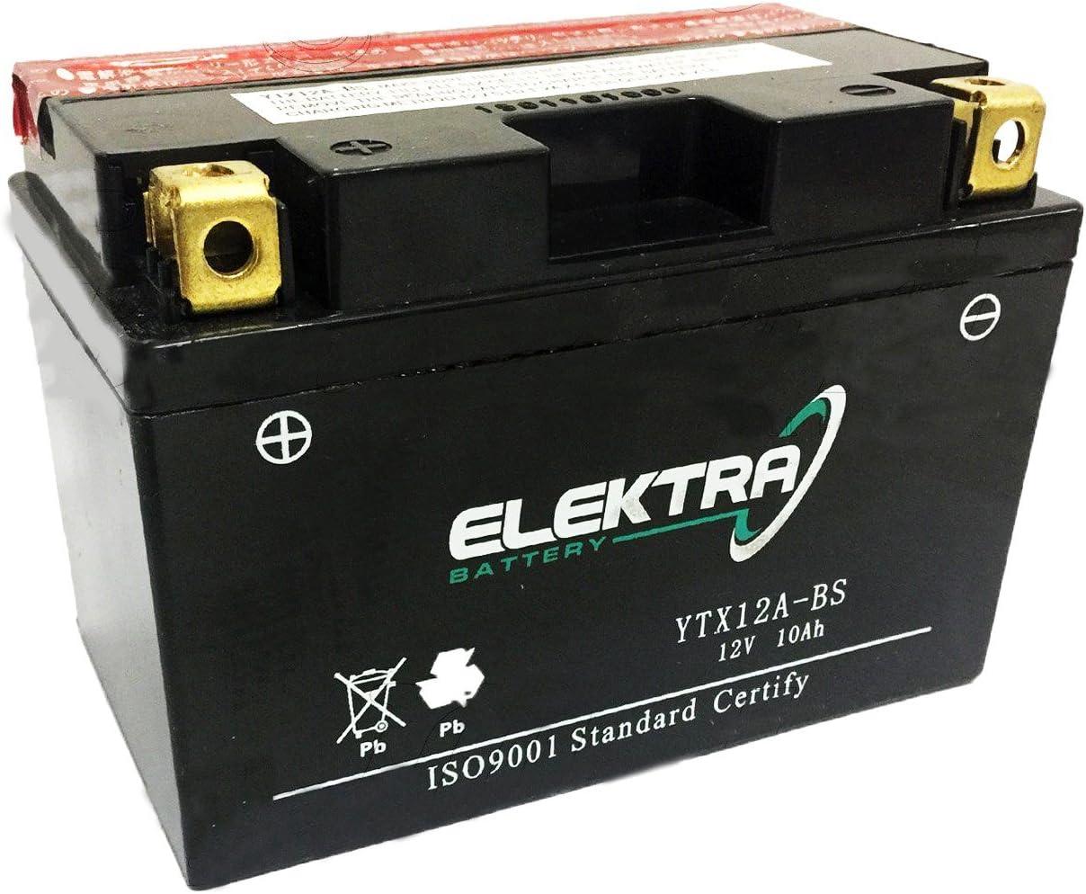 BATTERIA POTENZIATA ELEKTRA YTX12A-BS PER SUZUKI XF Freewind 650 1997-2003 12V 10 Ah CON ACIDO