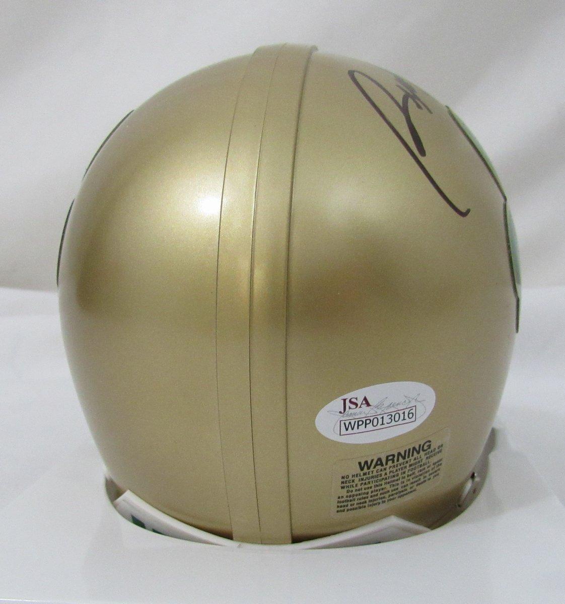 Rudy Ruettiger Notre Dame Shamrock Signed Riddell Mini Helmet JSA 136425
