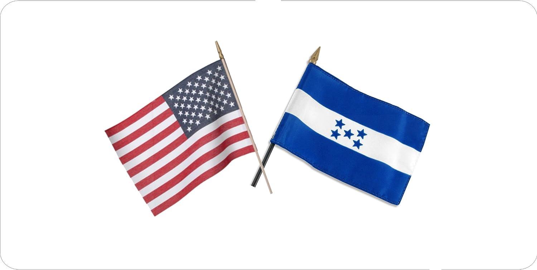 Puerto Rico Crossed American Flag Novelty Metal License Plate