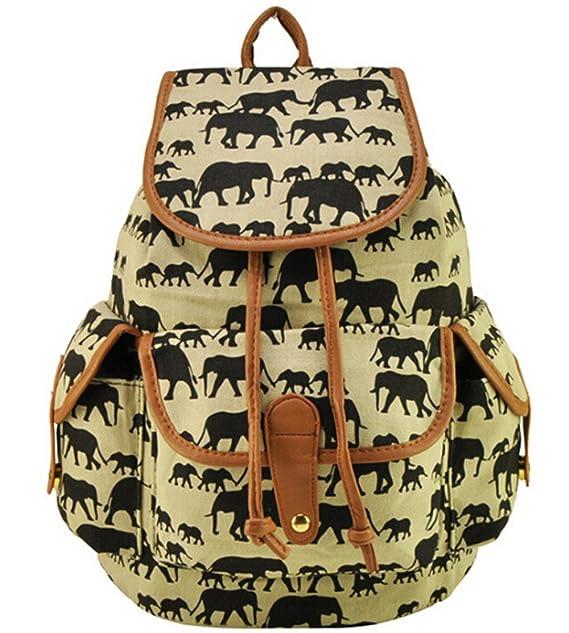 Elephant Backpack Women Men Satchel Boy Girl Bag Rucksack (1) 46dc16851c64e