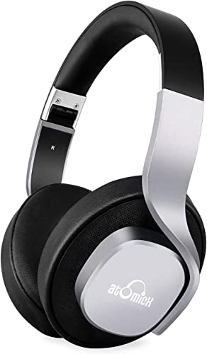 Bluetooth Headphones, iDeaUSA Wireless Headphones with Mic Over Ear Headphones 20 Hours Playback Passive Noise Cancelling Headphones for TV Smartphones PC Laptop – Black Grey