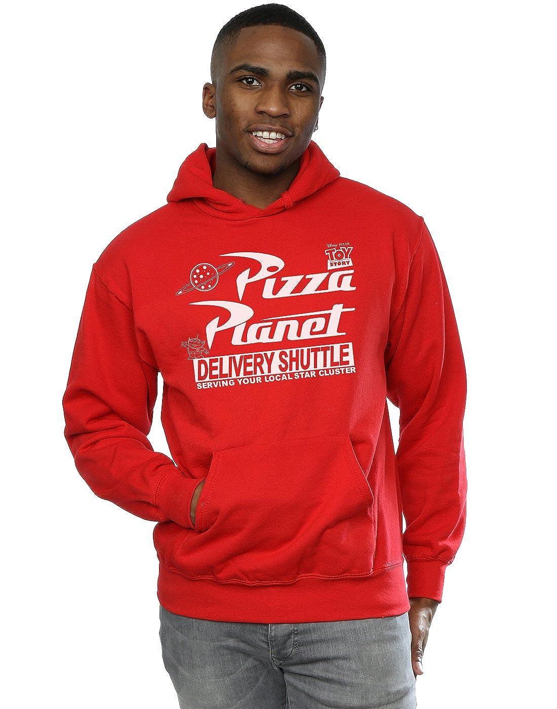 Disney Homme Toy Story Pizza Planet Logo Sweat /à Capuche