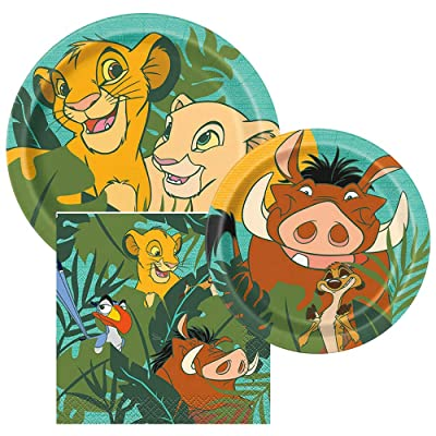 BirthdayExpress Lion King Party Supplies Tableware Kit for 32: Toys & Games
