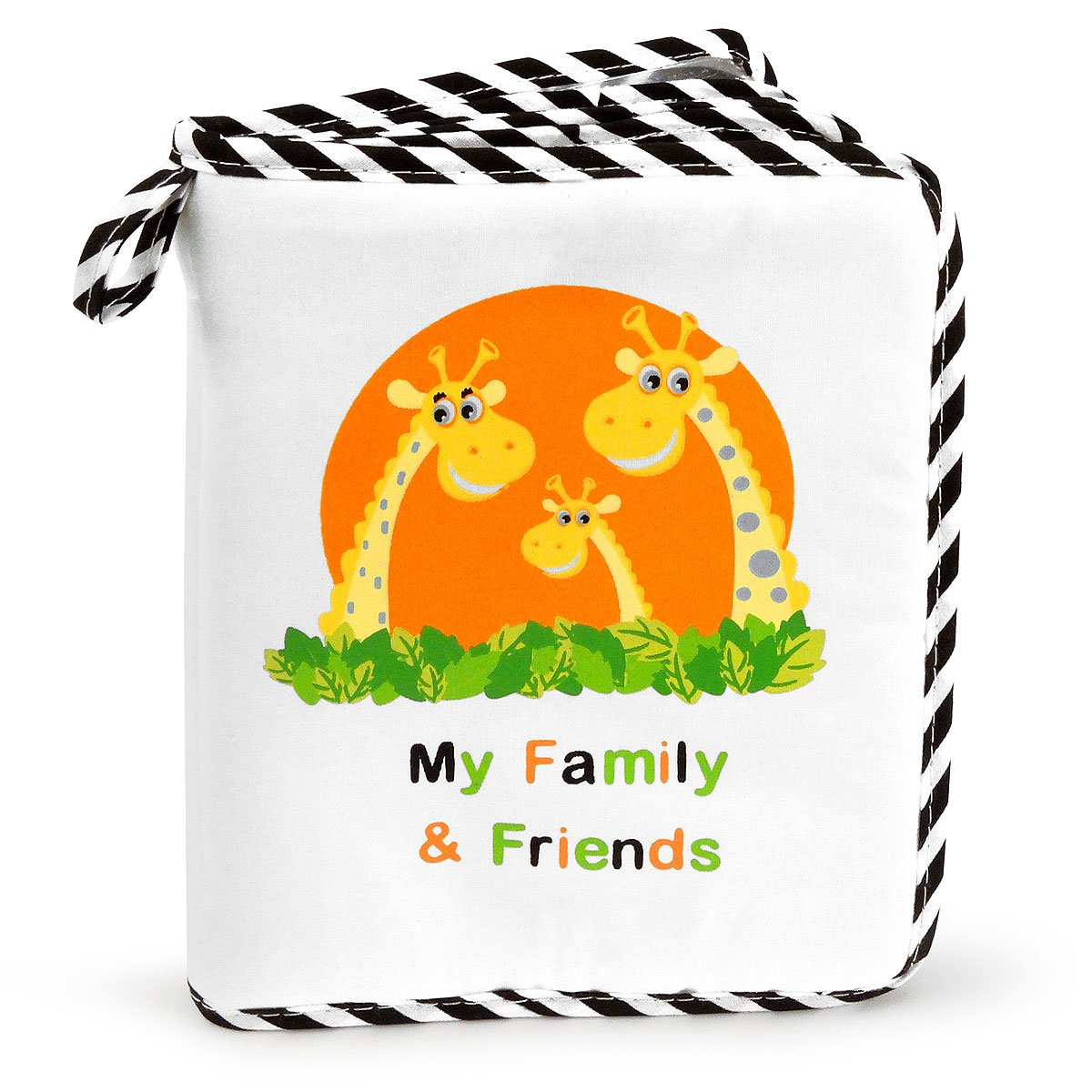 Baby's My Family & Friends First Photo Album - Cute Giraffe Family Theme! Genius Baby Toys GB-508