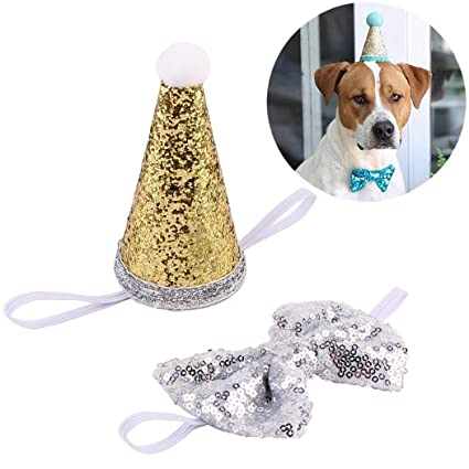 Amazon Legendog Dog Birthday Hat Party Sequins Cone
