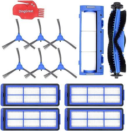 DingGreat Kit de Accesorios para Eufy RoboVac 11S MAX RoboVac 15C MAX RoboVac 30C MAX Robot Aspirador, Paquete de 1 cepillos Principales 4 filtros 6 cepillos Laterales 1 Tapa del Cepillo Principal: Amazon.es: Hogar
