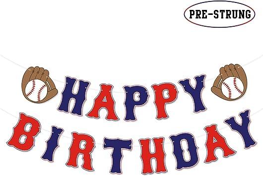 Amazon.com: Banderín de béisbol para cumpleaños con temática ...