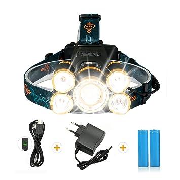 Lampe Frontale Puissante Avec 5 Led De 8000 Lumens Sgodde Lampe