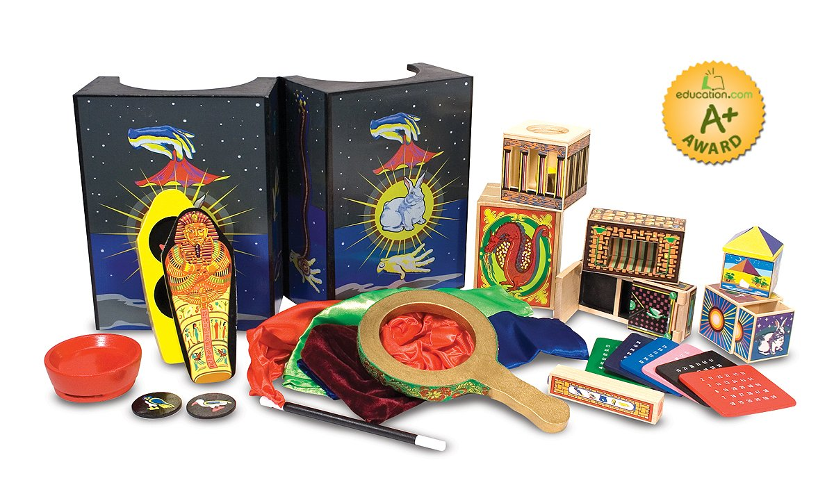 Melissa & Doug Deluxe Solid-Wood Magic Set With 10 Classic Tricks