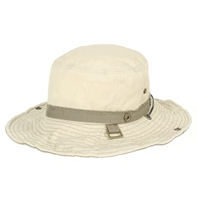 54ab06ba7a8 WITHMOONS Boonie Bush Hats Wide Brim Denim Camouflage Side Snap KR8190 ( Beige)