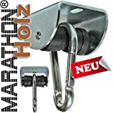 MARATHON Swing Hanger for WOOD installation - Heavy duty hanger with Ball Bearing Technology up to 60 min continuous moving