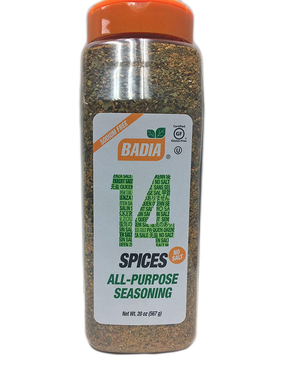 Amazon.com : 2 PACK 14 Spices Seasoning All Purpose No Salt Sodium Free/Sazon Sin sal 2x20 oz : Grocery & Gourmet Food