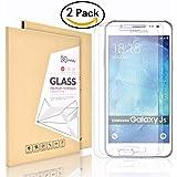 2X Samsung Galaxy J5 (2015) Displayschutzfolie,Didisky® Panzerglasfolie für Samsung Galaxy J5 2015 Glatt anfühlen, Einfach zu säubern ,9H [Lebenslange Garantie]