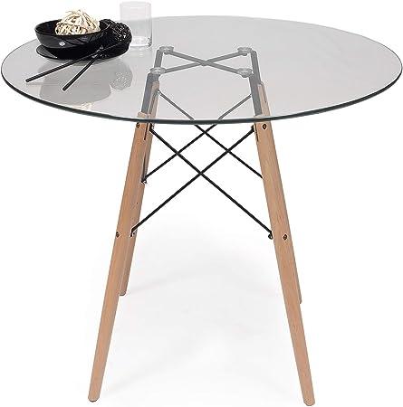 Tavoli Da Pranzo Rotondi In Vetro.Homely Tavolo Da Cucina O Da Sala Da Pranzo Rotondo Tower