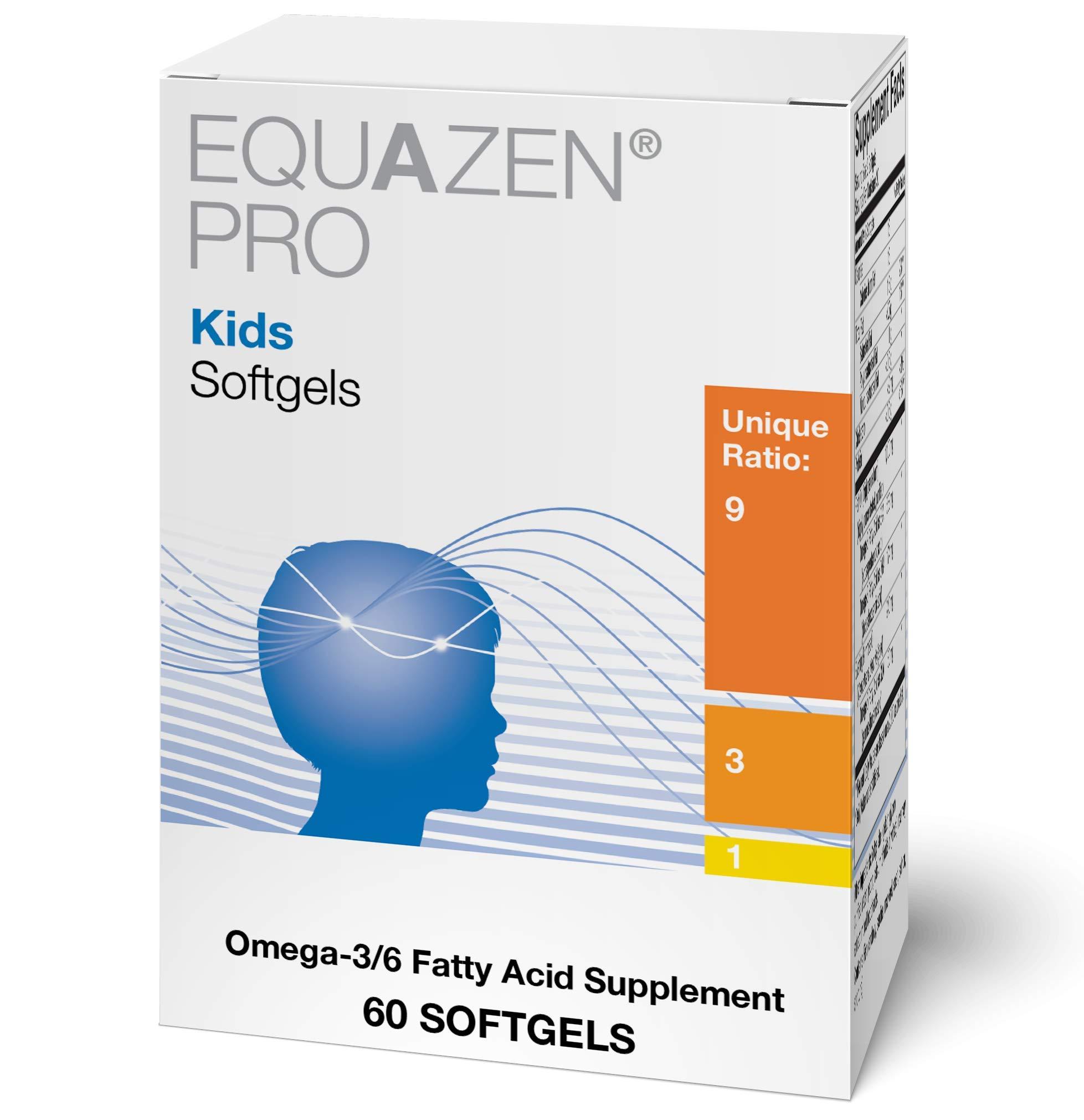 Equazen Pro Kids Softgels - Omega 3 6 Fish Oil with EPA & DHA (60 Softgels)