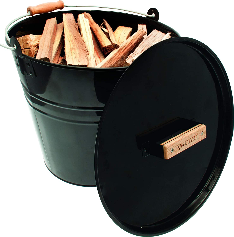 Black Valiant 4-Piece Fireside High Gloss Metal Storage Set