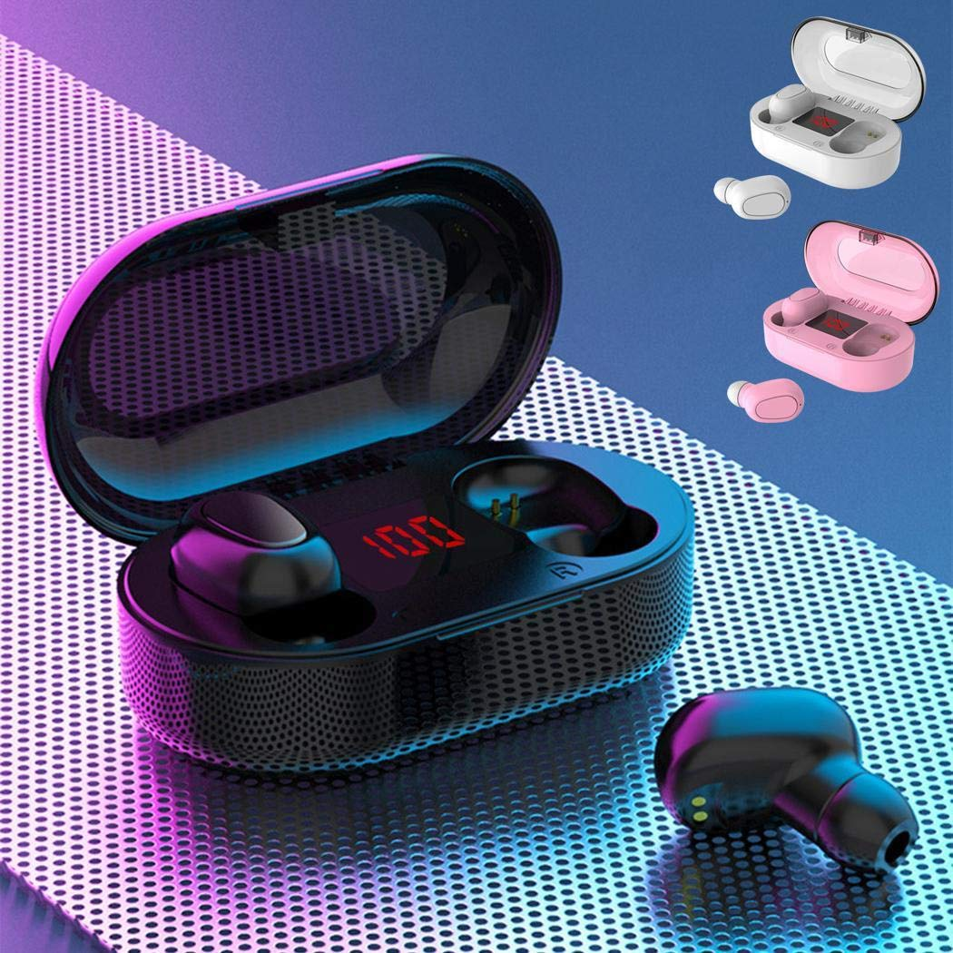 Dongdongole Bluetooth Binaural Stereo Wireless Earphone with Charging Case IPX5 Waterproof in Ear Earbuds Headphones