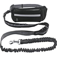 Hands Free Dog Leash, Rocy Running Hiking Leash with Adjustable Waist Pocket ,Retractable Shock Absorbing Bungee Leash with Reflective stitching & Control Handle for Medium Large Dogs