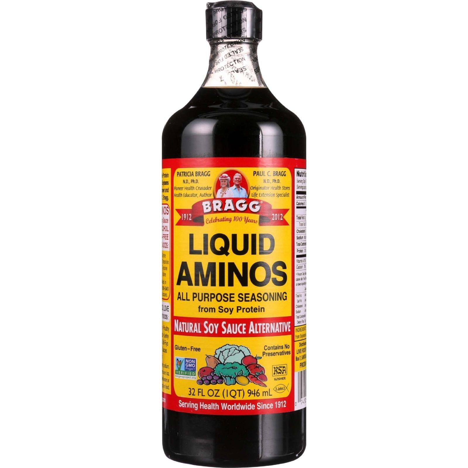 Bragg Liquid Aminos - 32 oz - 1 each, Sports and Fitness, Amino Acids Kosher GMO Free