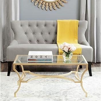 Amazon Com Safavieh Home Collection Alphonse Gold Coffee Table Furniture Decor
