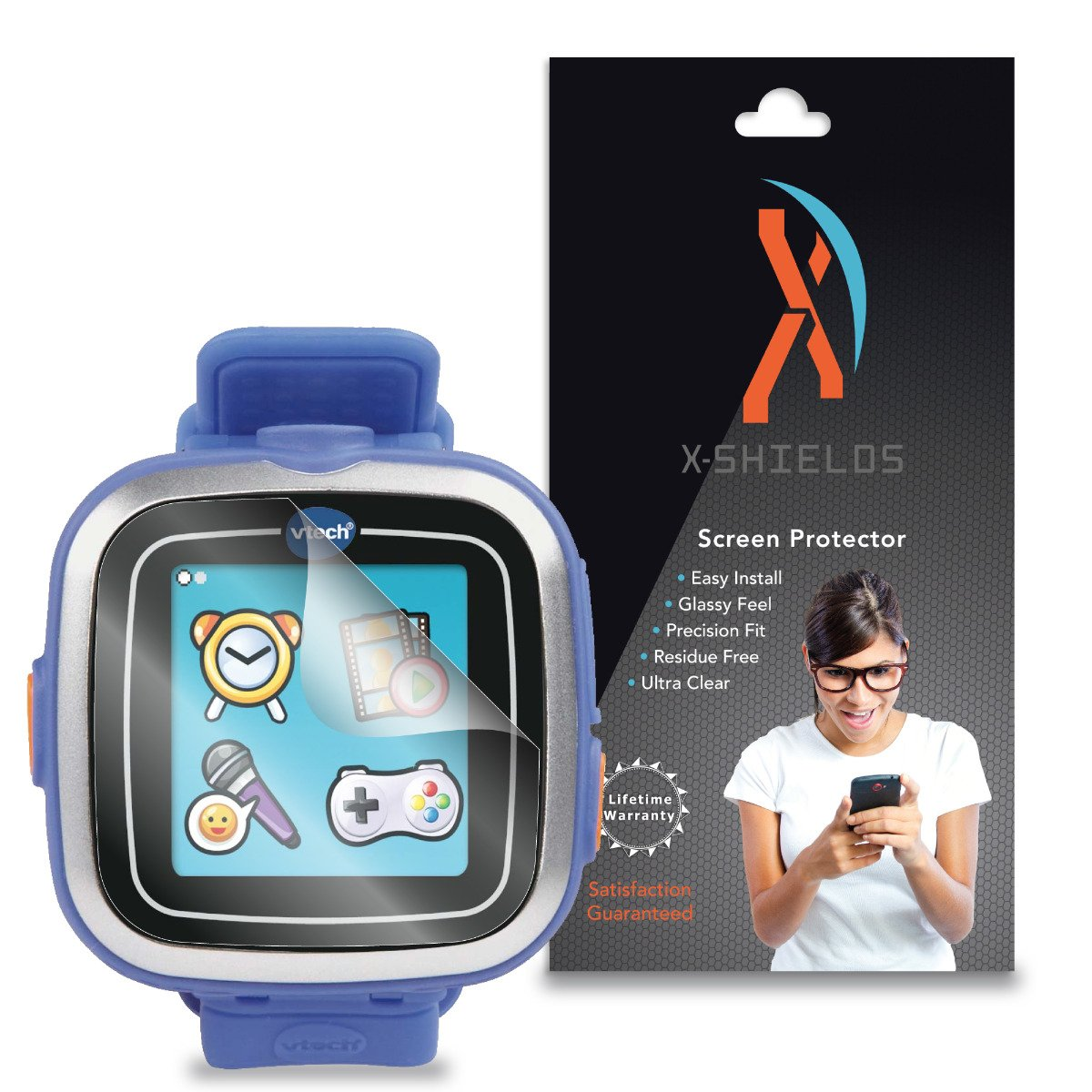 XShields© (4-Pack) Screen Protectors for Vtech Kidizoom Smartwatch (Ultra Clear)