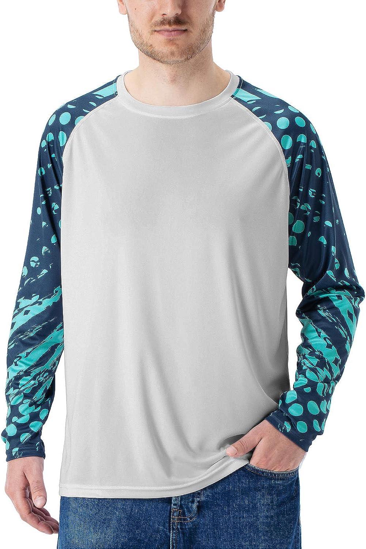 Sun Protection Long Sleeve Printed T-Shirt Outdoor Recreation Fishing Running Hiking Swim Board Shirt Naviskin Mens UPF 50