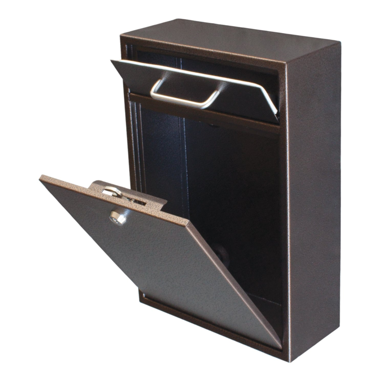 Epoch Design Locking Drop Box Wall Mounted Mailbox, Bronze     Amazon.com