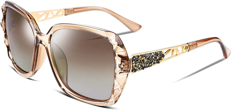 FEISEDY Gafas de sol para mujer clásicas Polarizadas Marco Compuesto Espumoso B2289