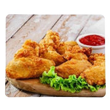 alfombrilla de ratón alitas de pollo fritos rebozados - rectangular - 23cm x 19 cm