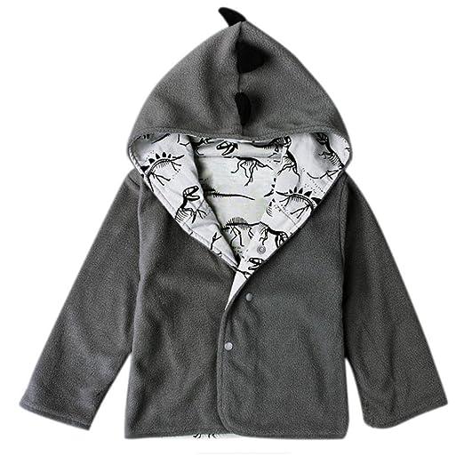 ddbb7935f Amazon.com  iumei Dinosaur Shape Toddler Cute Jackets Newborn Button ...
