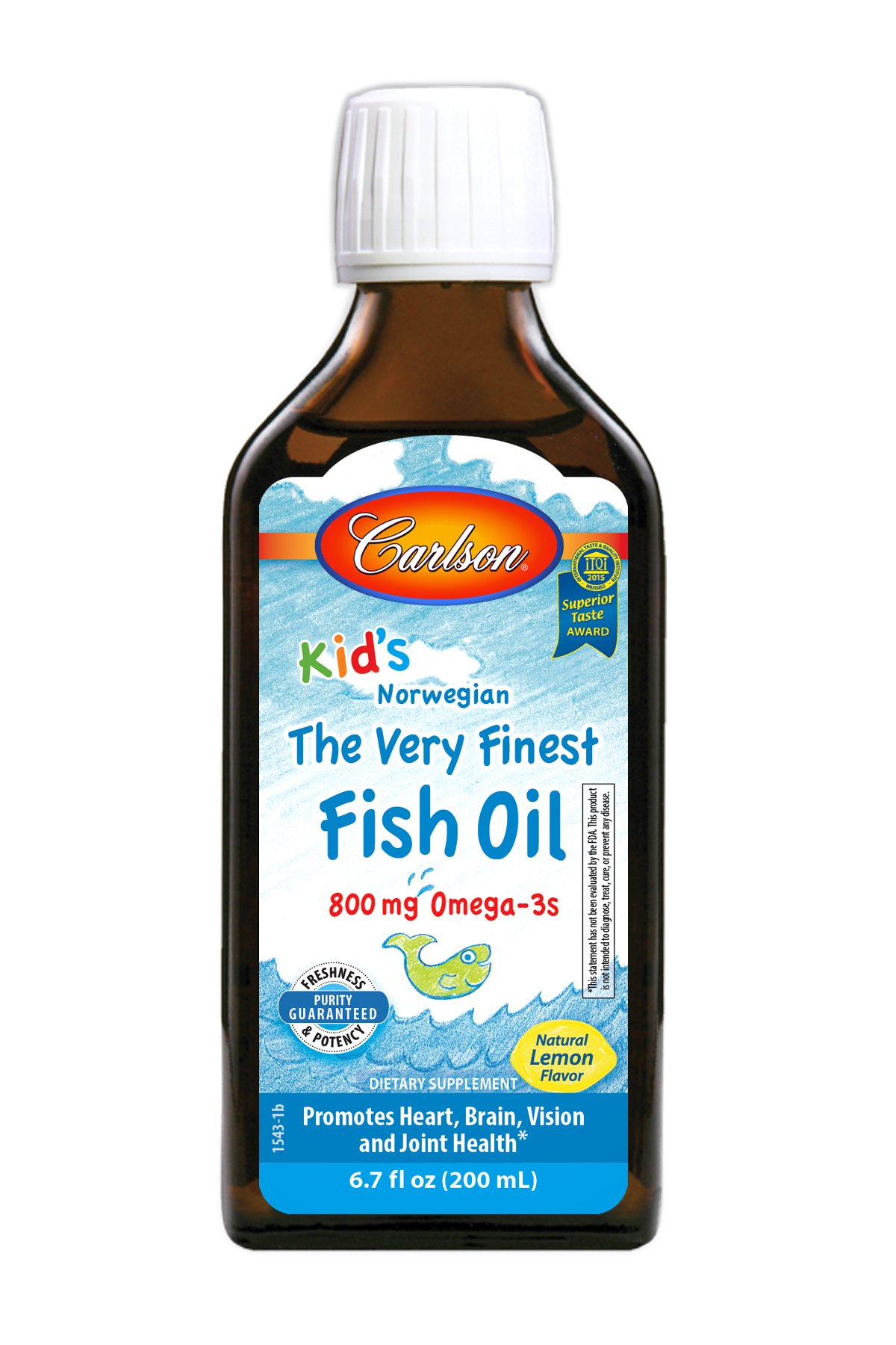 Carlson For Kids Very Finest Fish Oil Lemon, 200ml