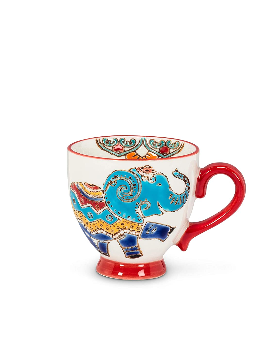Abbott Collection 27-CHINTZ-ESP-14 Sm Elephant Handled Cup-2.25 D(3oz), 2.25 inches in Diameter, Multi
