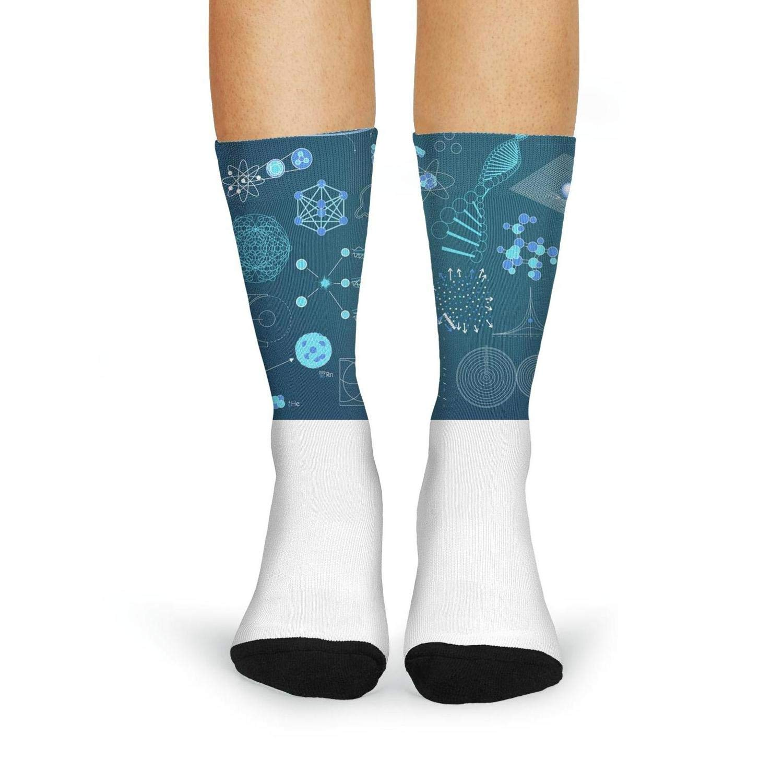 XIdan-die Womens Over-the-Calf Tube Socks University Physics Technology Moisture Wicking Casual Socks