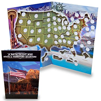 Amazon.com: State Quarter Collection Book Folder Map: Toys & Games
