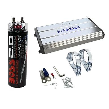 Hifonics Zeus 3200 W Max clase D Monoblock amplificador de coche + Boss 20 V coche