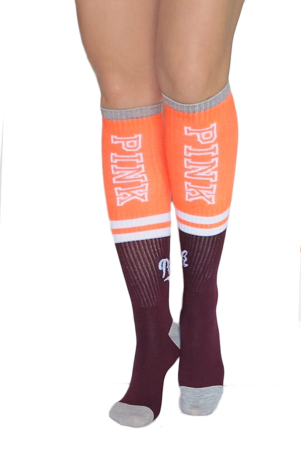 275a01c5e83 Victoria s Secret PINK! Knee High Socks Pack of 2 .Blue Marled  Patriot at  Amazon Women s Clothing store
