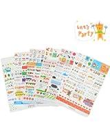 6 Sheets Craft Sticker, Marrywindix Tech Decorative Scrapbooking Diary Album Sticker Adhesive