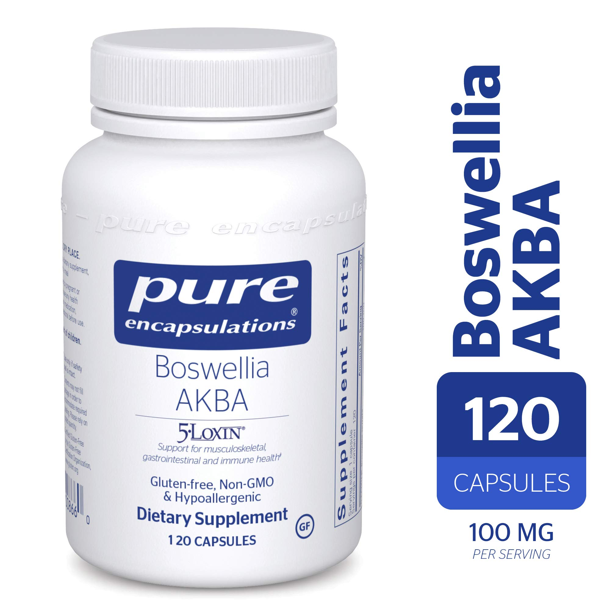 Pure Encapsulations - Boswellia AKBA - Hypoallergenic Support for Immune, Joint, Gastrointestinal and Cell Health* - 120 Capsules