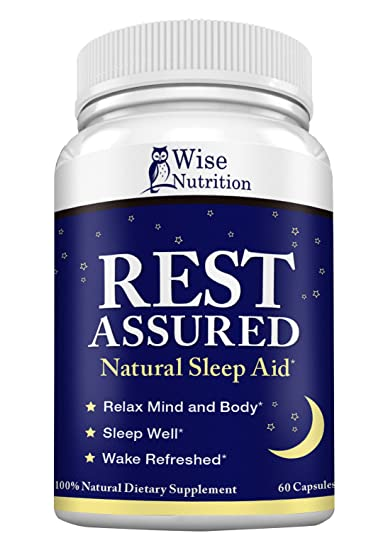 Natural Sleep Aid Pills to Fall Asleep Fast with Melatonin, Minerals and Herbal Blend -