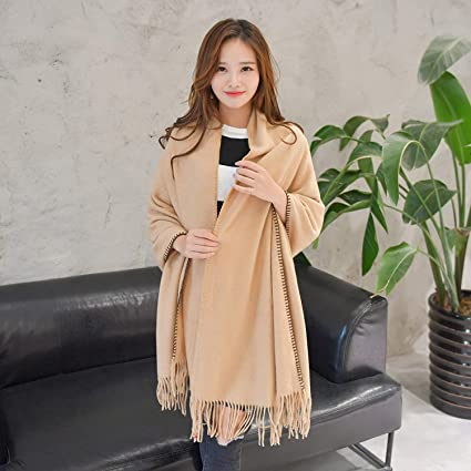 Winter and autumn pure color scarf imitation cashmere scarf shawl