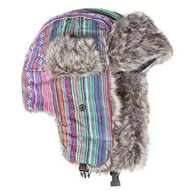 Accessoryo Unisex Retro Multi-Colour Patterned Trapper Hat Available in 2  Designs  Amazon.co.uk  Clothing cc6b42c9a2d