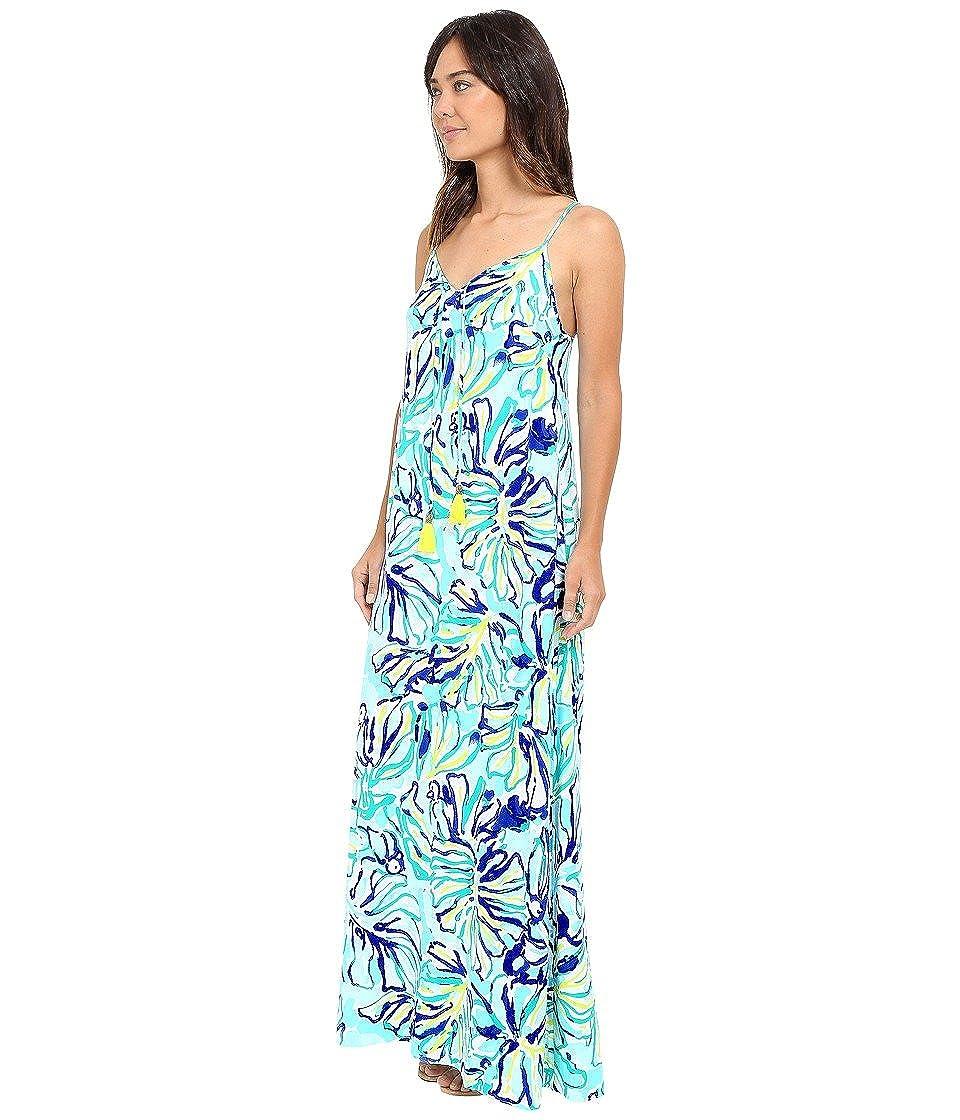 Lilly Pulitzer Women\'s Philomena Maxi Dress Pool Blue Stay Cool ...