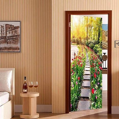 3D pegatinas de puerta Parque de pizarra 80X200CM Mural ...