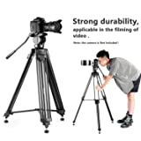 Simpex VCT899 hevy duty 8 Feet tall video and photo professional tripod, Made with aluminium material (Black Colour)