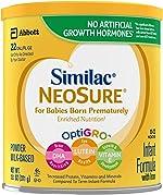 Similac NeoSure Infant Formula with Iron For Babies Born Prematurely White,