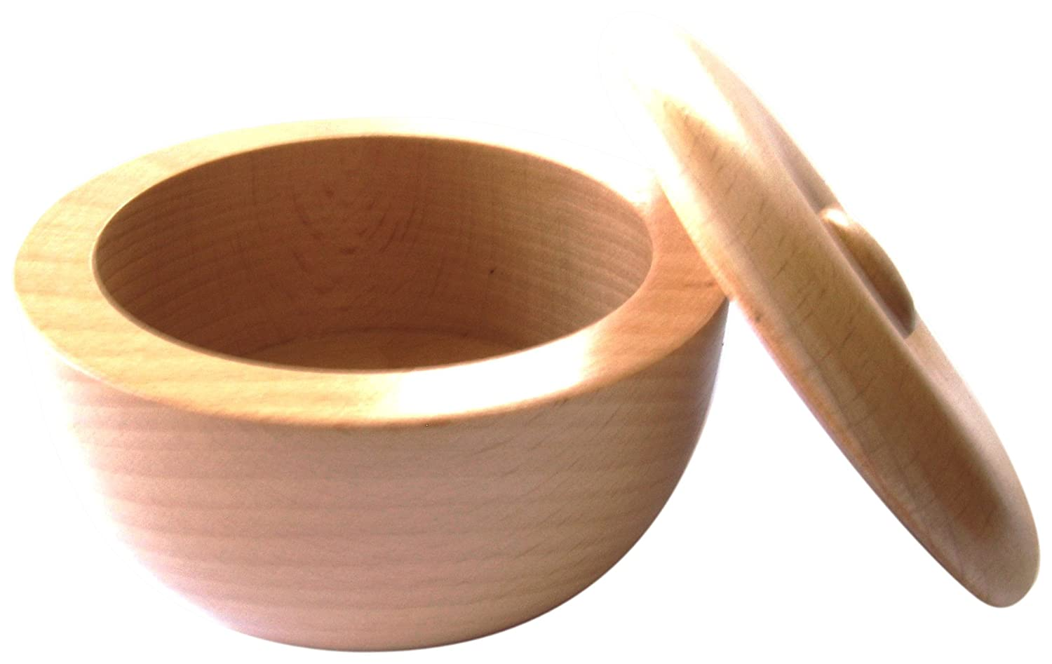 Col. Conk Products Light Beech Wood Bowl with Lid 400