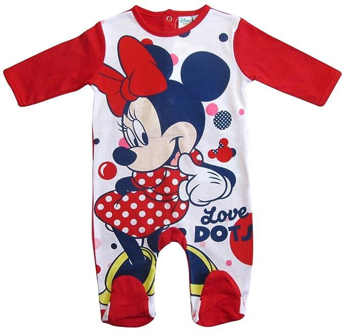Minnie Mouse - Pantalón de peto - para bebé niño rojo 68 cm