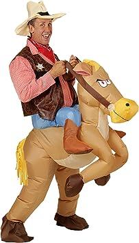 WIDMANN- Disfraz hinchable de caballo, Color marrón, talla única (75504)