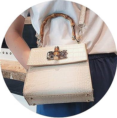 2019 Women Pu Leather Handbags Bamboo Handle Shoulder Bags Ladies Bag Bolsas Femininas Sac