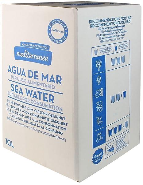 Mediterranea Agua de Mar Alimentaria en Envase de 10 Litros